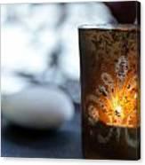 Candle Light Canvas Print