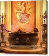 Candle Lit Bath Canvas Print