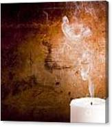 Candle Smoke Trails Canvas Print
