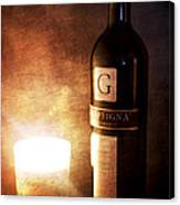 Candle Wine Canvas Print