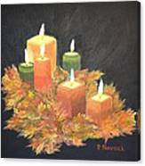 Candles In Autumn Canvas Print