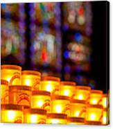 Candles In Notre Dame Canvas Print