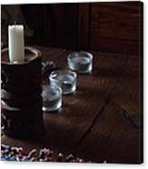 Candles In The Morning Canvas Print