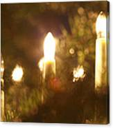 Candles Seen Through A Fir Tree Canvas Print