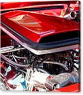 Candy Apple Red Horsepower - Ford Racing Engine Canvas Print