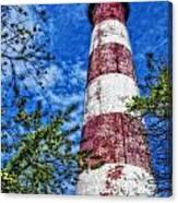 Candy Cane Lighthouse Canvas Print
