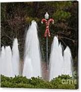 Candy Cane Water Fountain Canvas Print