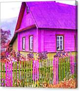 Candy Cottage - Featured In Comfortable Art Group Canvas Print