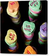Candy Heart Towers Canvas Print