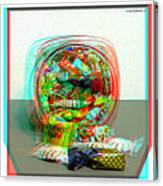 Candy Jar - Use Red-cyan Filtered 3d Glasses Canvas Print