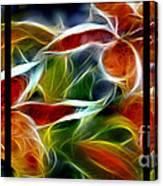 Candy Lily Fractal Triptych Canvas Print
