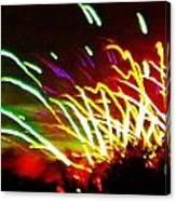 Candy Stripe Fireworks Canvas Print