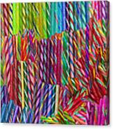 Candy Twists Canvas Print