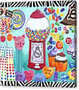 Candy Window Canvas Print