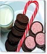 Candycane  Cookies - Milk - Cookies Canvas Print
