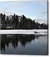Winter Mountain Calm - Canmore, Alberta Canvas Print
