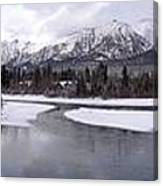 Canmore Winter Canvas Print