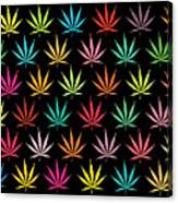 Cannabis Leaf Multi-coloured Pattern Canvas Print