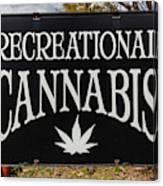 Cannabis Marijuana Store In Ridgway Canvas Print