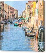 Cannareggio Canal Venice Canvas Print