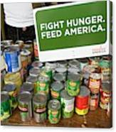 Canned Goods For Food Banks Canvas Print
