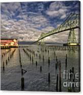 Cannery Pier Hotel And Astoria Bridge Canvas Print