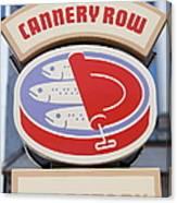 Cannery Row Directory At The Monterey Bay Aquarium California 5d25020 Canvas Print