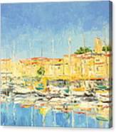 Cannes Harbour Canvas Print