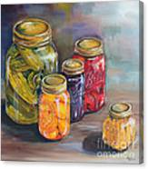 Canning Jars Canvas Print