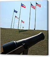 Cannon At Fort Sumter Canvas Print