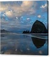 Cannon Beach Calm Morning Tidal Flats Canvas Print