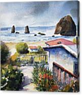 Cannon Beach Cottage Canvas Print