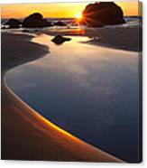 Cannon Beach Sunset Vertical Canvas Print