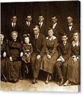 Cannon Family Portrait Circa 1912 Canvas Print