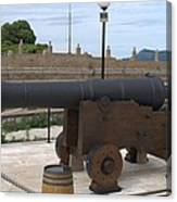 cannon of the old fort Corfu Canvas Print
