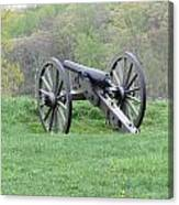 Cannon On Culp's Hill Canvas Print