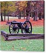 Cannon On The Parade Grounds Canvas Print