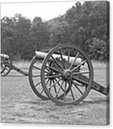 Cannons On Manassas Battlefield Canvas Print
