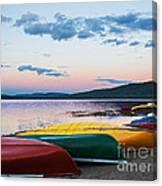 Canoe Colourama Canvas Print