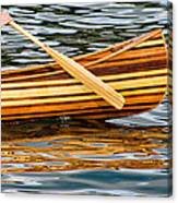 Canoe Lines And Reflections Canvas Print