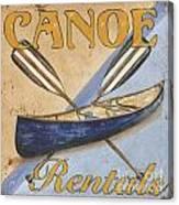 Canoe Rentals Canvas Print