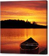 Canoe Sunset Canvas Print