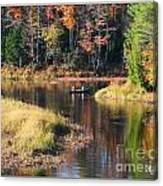 Canoeing In The Fall Canvas Print