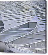 Canoes Waiting Canvas Print