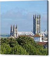 Canterbury Cathedral From Dane John Mound Canvas Print