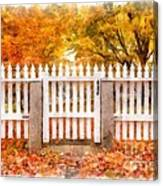 Canterbury Shaker Village Picket Fence  Canvas Print