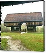 Cantilever Barn In Smokey Mtn Natl Pk Canvas Print