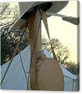 Canvas Tent Canteen And Cowboy Hat