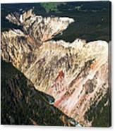 Canyon And Yellowstone Falls Canvas Print
