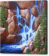 Canyon Cascade Canvas Print